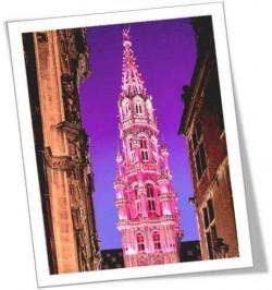 """Stadhuis in roze voor 10 jaar """"Think Pink"""""""