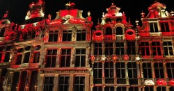 Brussels stadhuis kleurt zwart geel rood voor onze duivels
