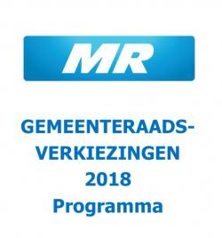 Gemeenteraadsverkiezingen 2018: Programma MR Jette