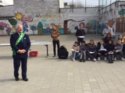 Minister Vanhengel bezoekt school waar hijzelf nog schoolliep