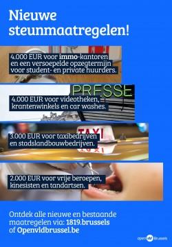 Brusselse regering treft bijkomende maatregelen in kader van Coronacrisis