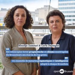"""Carla Dejonghe en Khadija Zamouri over relanceplan: """"Een pragmatisch pakket op maat van elke Brusselaar"""""""