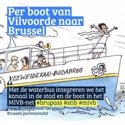 Carla Dejonghe: 'Integratie van Waterbus in MIVB-net is een feit!'