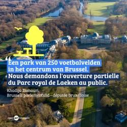 Open Vld Brussel vraagt met de andere meerderheidspartijen dat Koninklijk Park poorten opent voor alle Brusselaars.