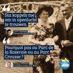 """""""Maak trouwen in openlucht mogelijk"""" (Open MR Sint-Pieters-Woluwe)"""