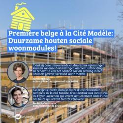 Laken: Houten woonmodules voor sociale huisvesting in Modelwijk