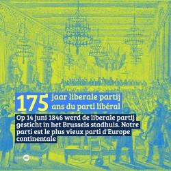 175 JAAR LIBERALE PARTIJ - Pour la petite histoire  14 juni 1846